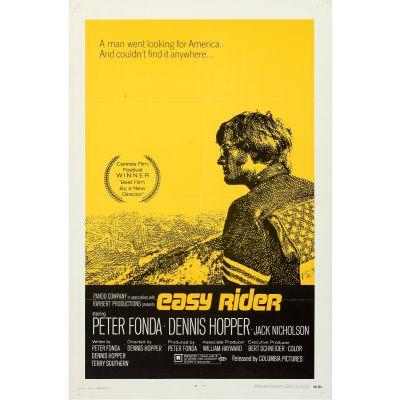 """Columbia, """"Easy Rider"""" 1969 Folded One Sheet, Very Fine-, Unframed, 27 x 41"""