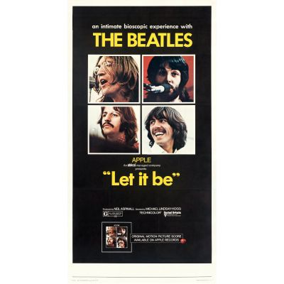 "United Artists, ""Let it Be"" 1970 Three Sheet on Linen, Very Fine+, Unframed, 41 x 78.5"