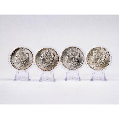 Set of 4: 1921-D, 1900-P, 1887-P & 1881-S Morgan Dollars Brilliant Uncirculated