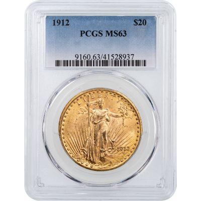 1912-P Saint Gaudens $20 Gold Double Eagle NGC/PCGS MS63