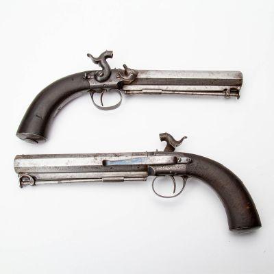 Pair of Single Shot Percussion Pistols