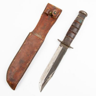 WWII US Ka Bar Type Fighting Knife