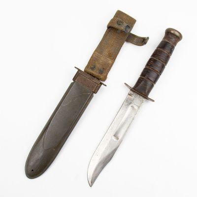 WWII Era USN MK2 Ka Bar Fighting Knife