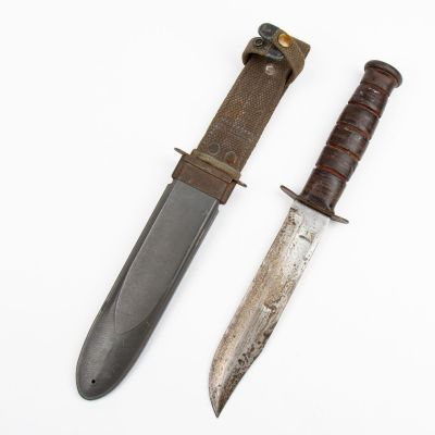WWII USN MK2 Ka Bar Fighting Knife