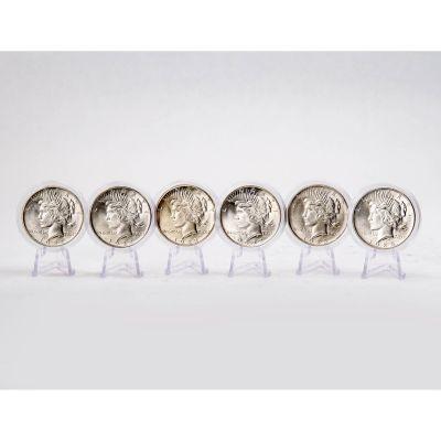 Set of 6: 1923-D, 1922-S, 1922-D, 1925-P, 1923-P & 1922-P Peace Dollars BU