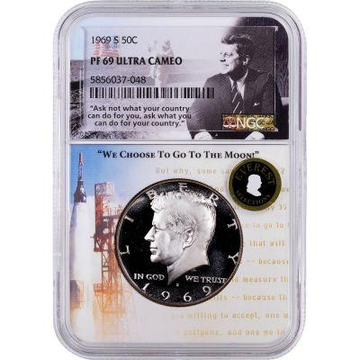 .50 1969-S Kennedy Half Dollar NGC PF69UCAM Everest Aspiration Label
