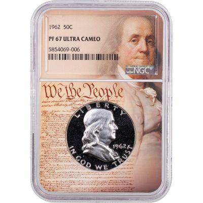 1962 Franklin Half Dollar NGC PF67UCAM We the People Label