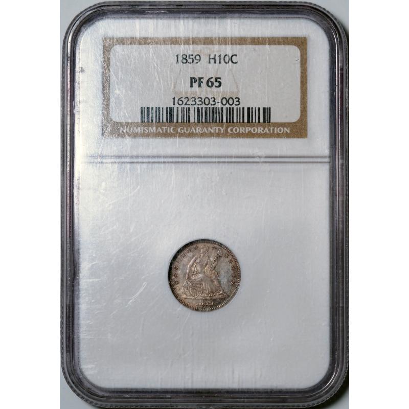 1859 Seated Liberty Half Dime -- NGC PF65