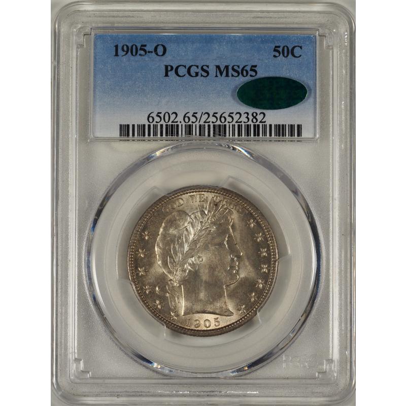 1905-O Barber Half Dollar -- PCGS MS65 CAC
