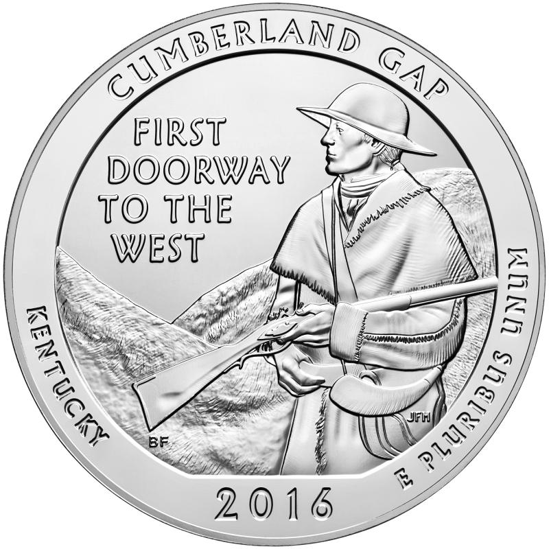 2016 Cumberland Gap 5 Oz. Silver ATB