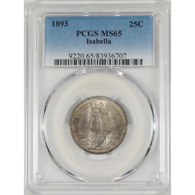 1893 Isabella Quarter -- PCGS MS65